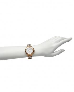 ブラウン×ブラウン BAL HARBOUR 2リンクブレス腕時計見る