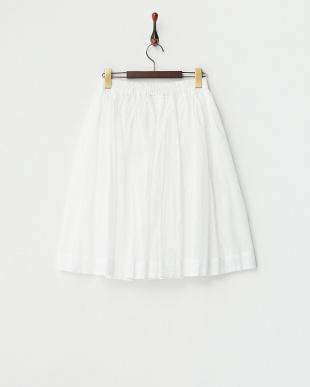 ホワイト ウエストゴム ガーゼ スカートを見る