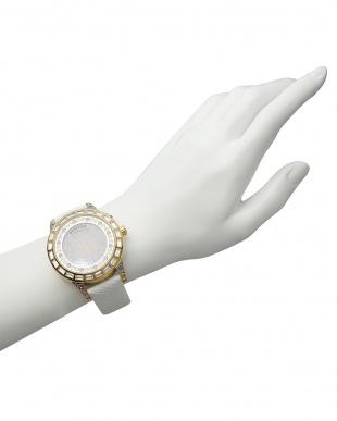 ゴールド×ホワイト 腕時計 RM006-1477 Dazzle見る
