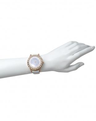 ピンクゴールド×ホワイト 腕時計 RM006-1477 Dazzle見る