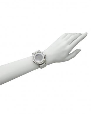 ホワイト×ホワイト 腕時計 RM006-1477 Dazzle見る