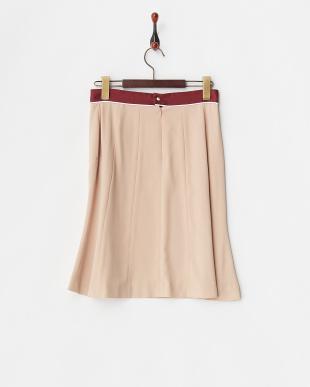 ピンク ピンクベージュ ウエスト切替スカートを見る