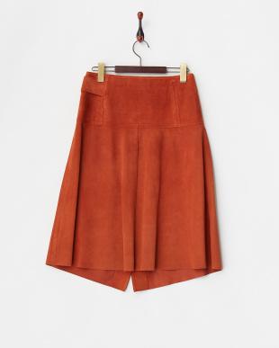 オレンジ スエードラップスカートを見る