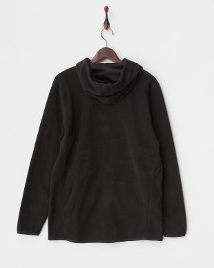ブラック フーデットフリースジャケット|UNISEX見る
