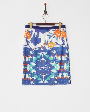 30 ホワイト ORANGE FLOWER PT ST NETTING スカートを見る