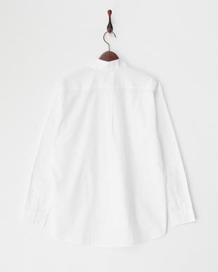 ホワイト 100/2ブロードストライプ切り替えシャツを見る