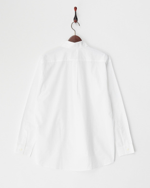 ホワイト 100/2ブロードストライプ切り替えシャツ見る