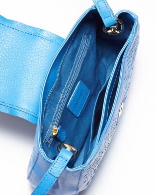 ブルー レクタングルモチーフ&カットワークデザイン ミニショルダーバッグを見る