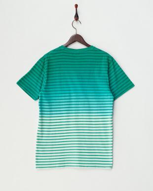 GREEN ボーダーグラデーションクルーネックTシャツを見る