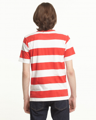 RED ボーダークルーネックTシャツを見る