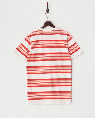 RED マルチボーダークルーネックTシャツを見る