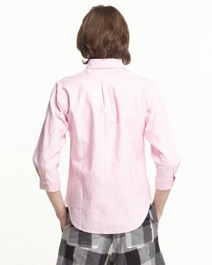 PINK オックスフォードボタンダウン7分シャツを見る