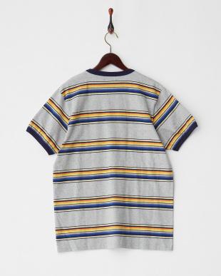ORANGE マルチボーダーTシャツを見る
