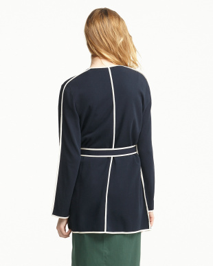 MIDNIGHT NAVY MARE Knitted Jacket見る