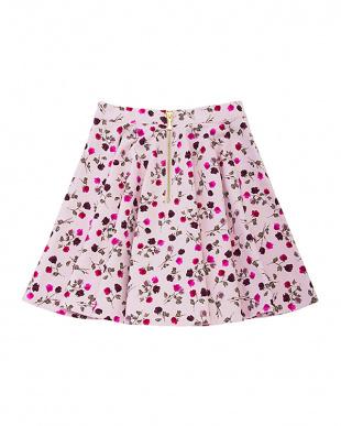 ピンク tossed rose circle skirtを見る