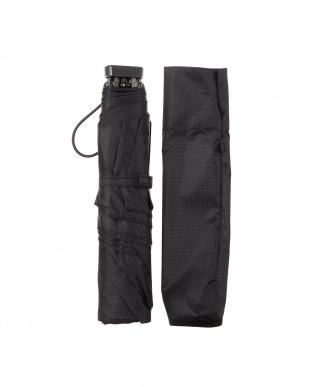 ブラック 折りたたみ 軽量ミニ傘 日本製|UNISEX見る