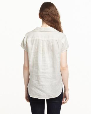 ホワイト FRENCH LINENプルオーバーシャツを見る
