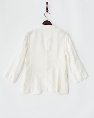 ホワイト FRENCH LINEN7分袖1Bジャケットを見る