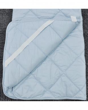 ブルー 合繊敷きパッド ダブル 家庭洗濯可能を見る