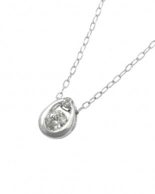 Pt 天然ダイヤモンド 0.1ct 馬蹄プラチナ ネックレスを見る