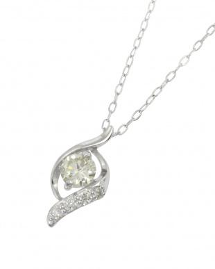 Pt 天然ダイヤモンド 0.2ct デザイン プラチナ ネックレスを見る