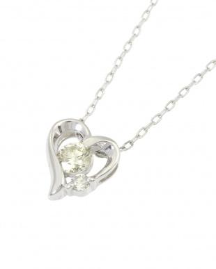 Pt 天然ダイヤモンド計0.2ct プラチナ ハートネックレスを見る