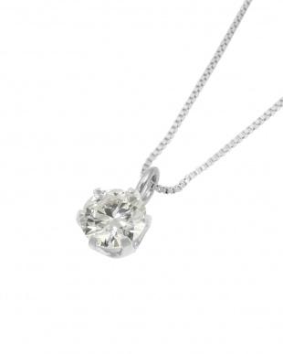 Pt900/Pt850 Pt 天然ダイヤモンド 0.2ct VSクラス 6本爪ネックレス・ベネチアンチェーン見る