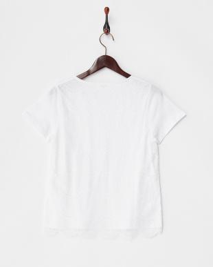 オフホワイト レース重ねTシャツ見る