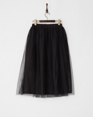 ブラック メッシュスカートを見る