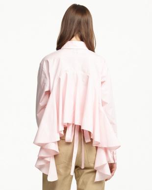 ピンク バックフリルシャツ見る