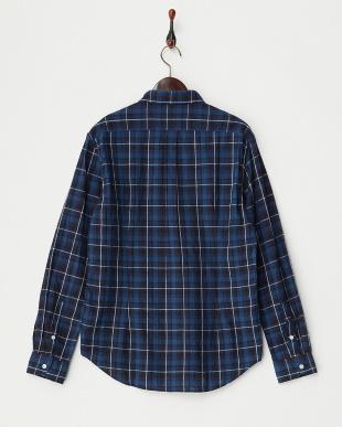 002 インディゴチェックシャツ見る