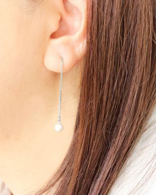 シルバーカラー あこや本真珠 ベビーパール 5.5~6mm 一粒ヨーロピアンピアスを見る
