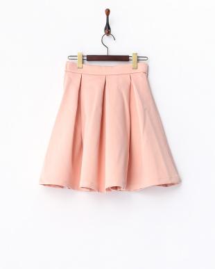 ピンク タック入り サーキュラースカートを見る