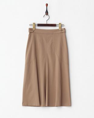 ブラウン シームフレアスカートを見る