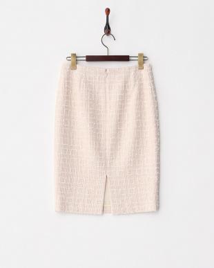 ピンク スラブツイードタイトスカートを見る
