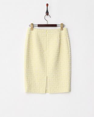 イエロー スラブツイードタイトスカートを見る