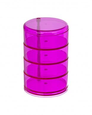 ピンク 化粧小物オーガナイザー タワーを見る