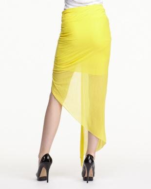 yellow VISCOSE FILM ツイストフロントスカートを見る