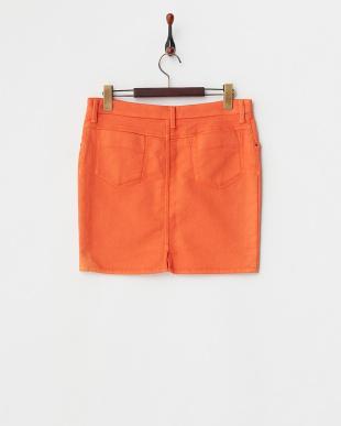 70 オレンジ ピースダイミニスカートを見る