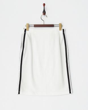 10 ホワイト サイドライン ミニ裏毛スカートを見る