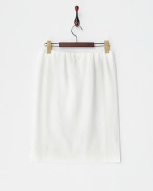 10 ホワイト オフホワイト レース切り替え ポンチタイトスカートを見る