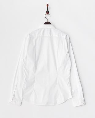 OPTICAL WHITE ストレッチ長袖シャツ見る
