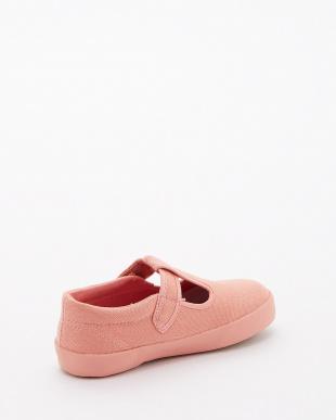 ピンク キャンバス Tストラップシューズ|KIDSを見る