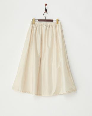 ベージュ ドット 柄はっ水レインスカート|WOMENを見る