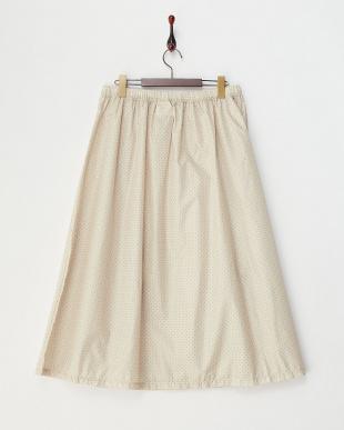 オフホワイト ドット柄レインスカートを見る