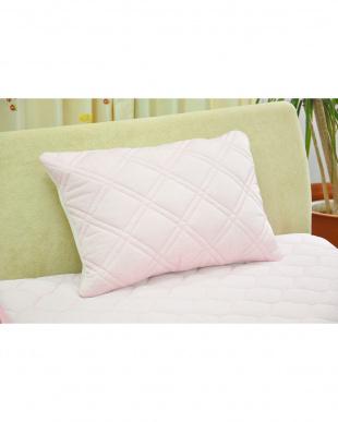 ピンク [低め]FEEL COOL 抗菌防臭・消臭わた入り ひんやり接触冷感枕を見る