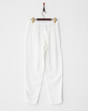 WHITE RAPPER 裾タブ付きリヨセルパンツ見る