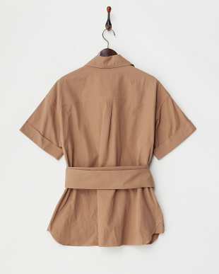 CAMEL SASH BELTED COTTON SHIRTを見る