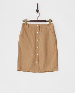 キャメル フロントボタンスカートを見る