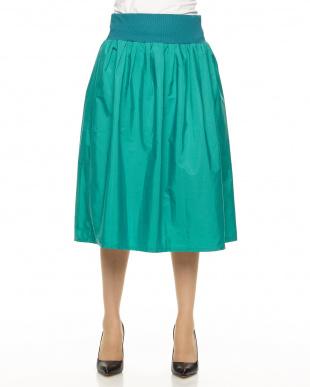 グリーン カラーエステルスカート見る